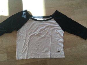 Schwarz-weißes Hollister Baseball Shirt