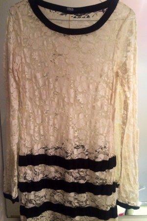 Schwarz-Weißes Kleid aus Spitze