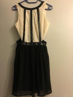 Schwarz weißes Kleid cutout dress