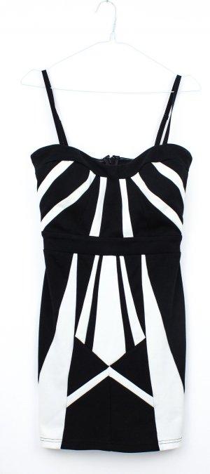 Schwarz-weißes Kleid von Lipsy in Größe 38