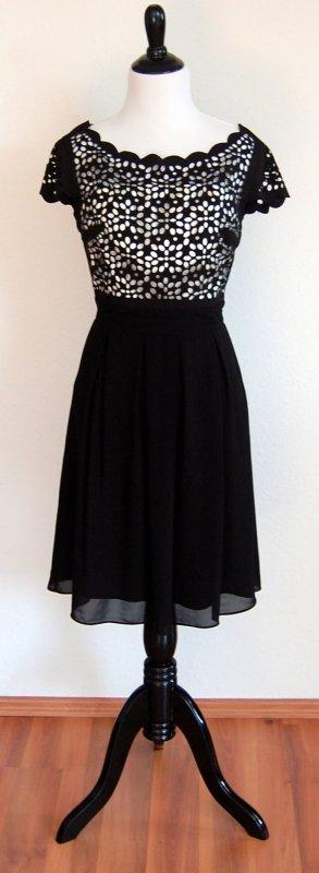 Schwarz weißes Kleid von Swing