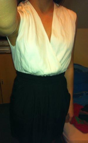 schwarz weißes Kleid von Vila, Größe 34