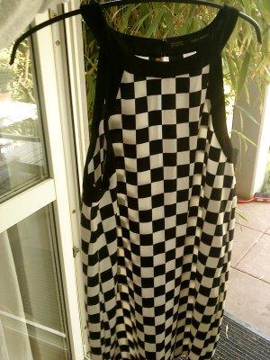 schwarz weißes Kleid Zara Basic in L
