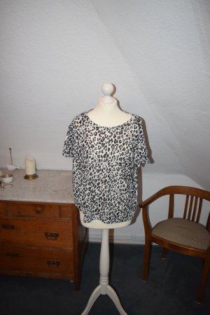 Schwarz Weisses Leoparden Shirt