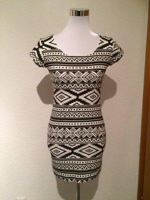 schwarz weißes Longshirt / Kleid - Gr. S