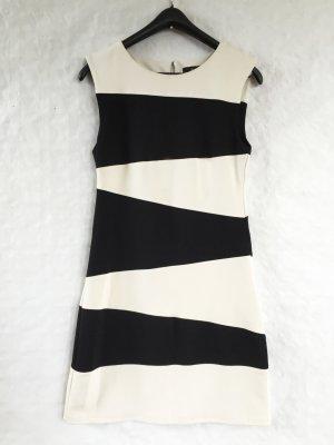 schwarz weißes Mango Suit Kleid