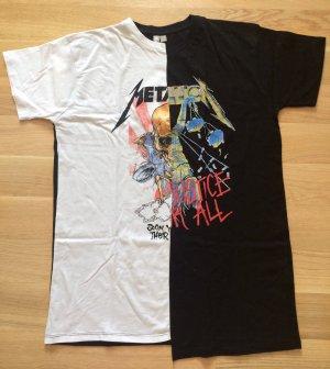 Schwarz-weißes Metallica T-Shirt