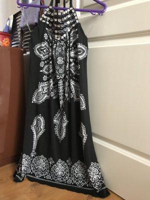 Best emilie Vestido de cóctel negro-blanco