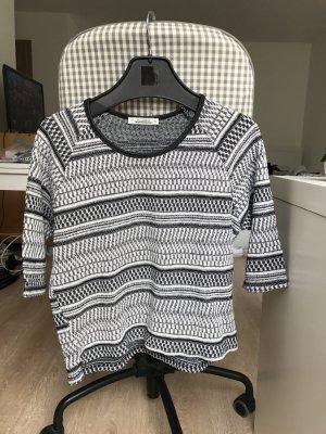 schwarz-weißes Muster Shirt