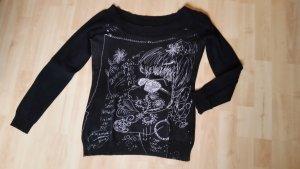Desigual Maglione di lana nero-bianco Cotone