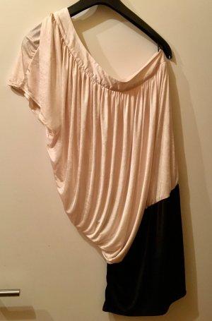 Schwarz / weisses One Shoulder Kleid