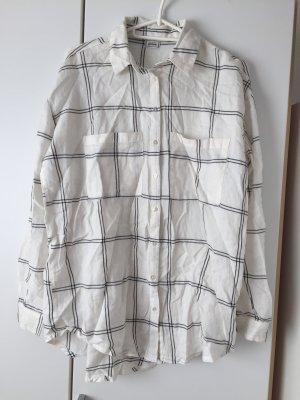 Schwarz/weißes oversize Hemd