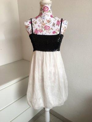 Schwarz-Weißes Partykleid mit Pailetten