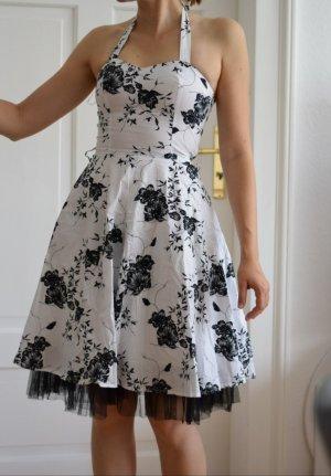 Schwarz-weißes Petticoat-Kleid