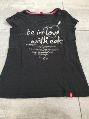 Schwarz weißes Printshirt von EDC / Esprit
