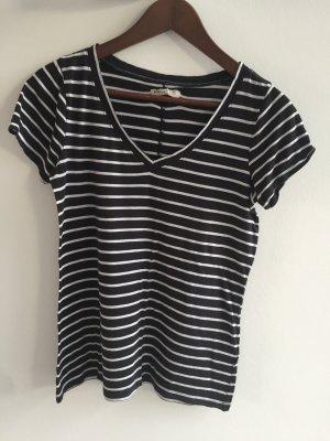 Schwarz Weißes Ringel Tshirt von Hollister in Größe M