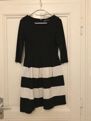 Schwarz-Weißes Smart-Business Kleid