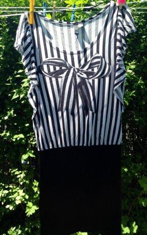 schwarz-weisses Stretchkleid von H&M