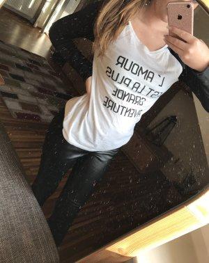 Schwarz-weißes Sweatshirt