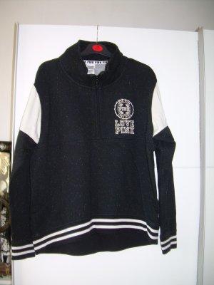 schwarz-weißes Sweatshirt von PINK Victoria's Secret in Gr. L