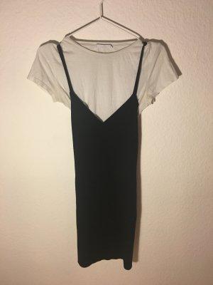 Schwarz-weißes T-Shirt Kleid