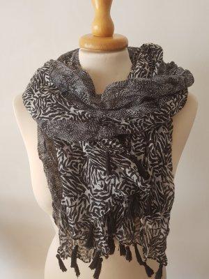 Schwarz weißes Tuch/ Schal