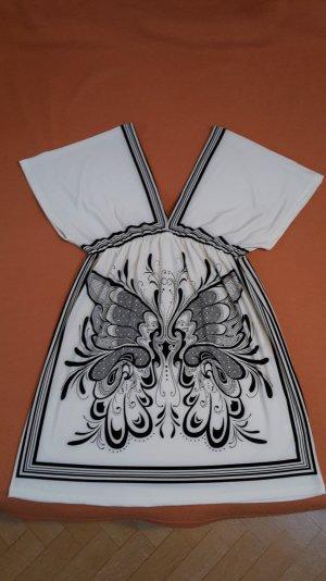 Schwarz-weißes verziertes LAVAND Kleid