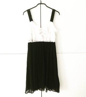 schwarz weisses vintage kleid