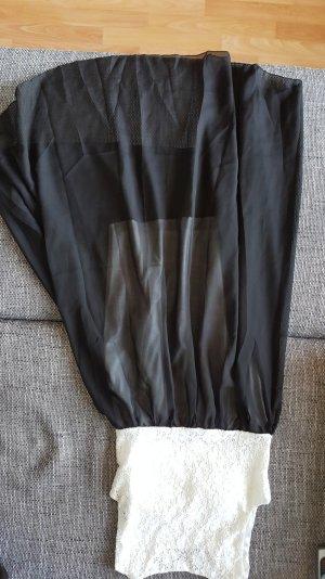 Schwarz/Weißes Vokuhilakleid