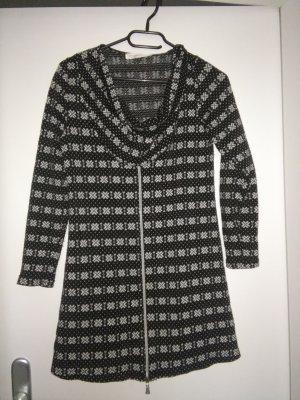 schwarz/ weißes Winter Kleid