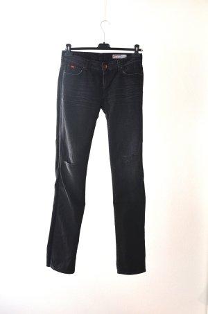 Gas Pantalón de cinco bolsillos marrón oscuro-negro Algodón
