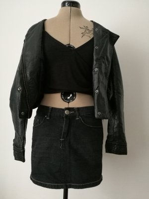 schwarzblauer Jeansrock