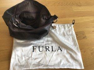 Schwarzbraune Handtasche von Furla