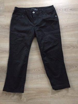 Street One Pantalón pirata negro tejido mezclado