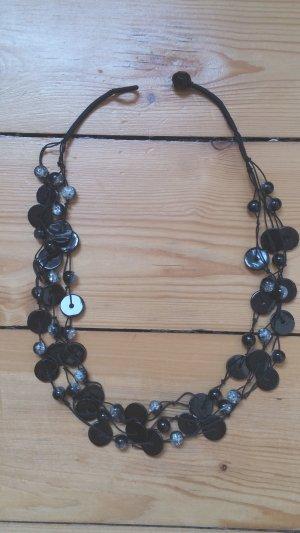 Schwarze 3-lagige Halskette !!Schick!!