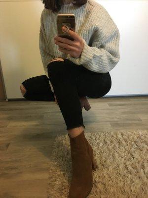 Schwarze 7/8 Highwaist-Jeans