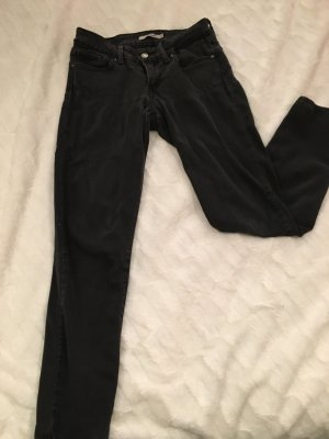 Schwarze 711 Levi's Skinny Jeans