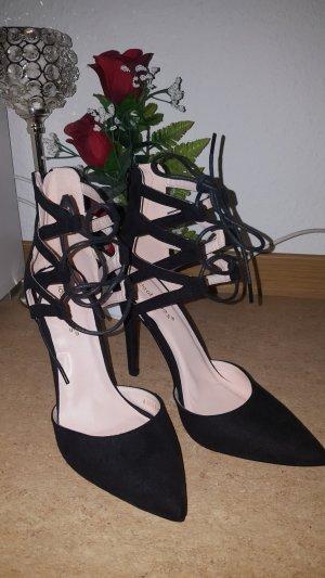 100% Fashion Lace-up Pumps black