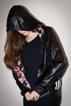 Schwarze Adidas Hoodie Jacke Gr. 36