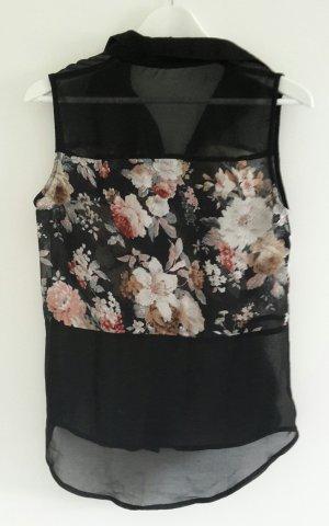 schwarze, ärmellose Bluse von Glamorous