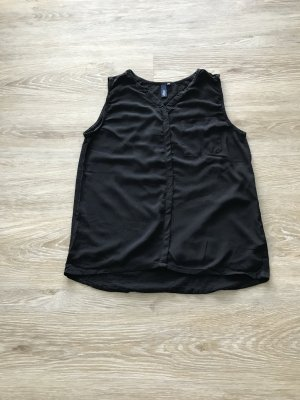 schwarze ärmellose Bluse von s.Oliver Denim