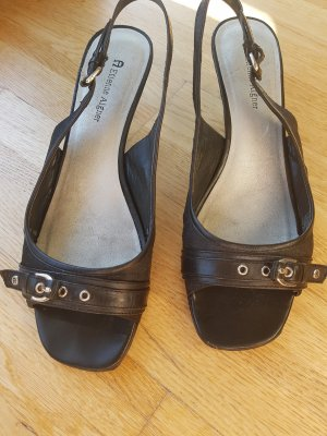 Etienne Aigner Strapped High-Heeled Sandals black leather