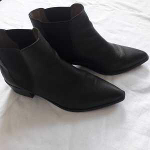Selected Femme Low boot noir cuir