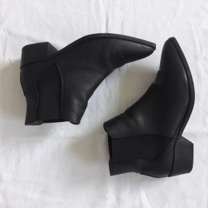 Selected Femme Low boot noir cuir