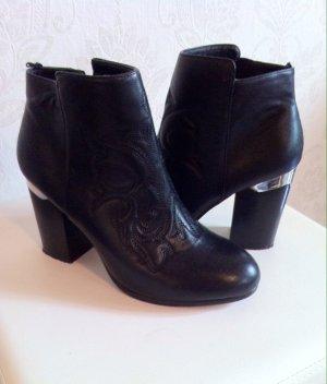Schwarze Ankle-Boots