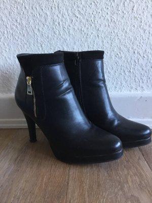 Botas de tobillo negro-color oro