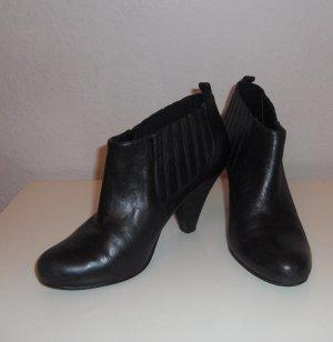 Schwarze Ankle-Boots* Echt Leder!