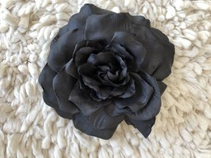 Schwarze Anstecker-Blume