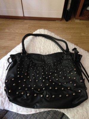 Schwarze Ara Handtasche