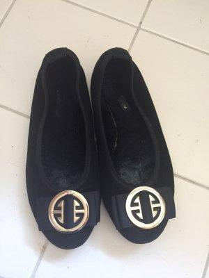 Bailarinas negro-color oro